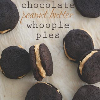 Low Carb Chocolate Peanut Butter Whoopie Pies