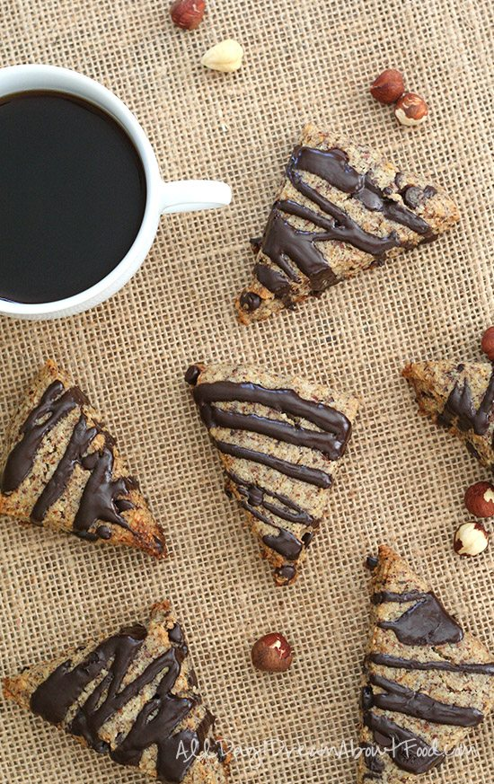 Low Carb Grain-Free Chocolate Hazelnut Scones