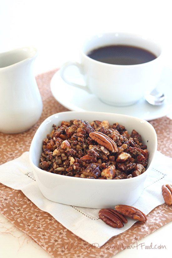 Low Carb Grain-Free Maple Pecan Granola Recipe