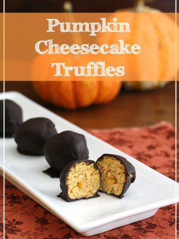 Low Carb Pumpkin Cheesecake Truffles