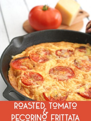 Low Carb Frittata Recipe with Roasted Tomatoes and Pecorino