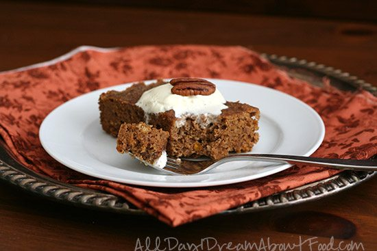 Low Carb Pumpkin Spice Cake Made in a Slow Cooker