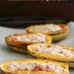 Low Carb Pancetta Stuffed Delicata Squash