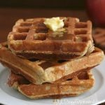 Low Carb Apple Cinnamon Waffles with Sugar-free Caramel Sauce
