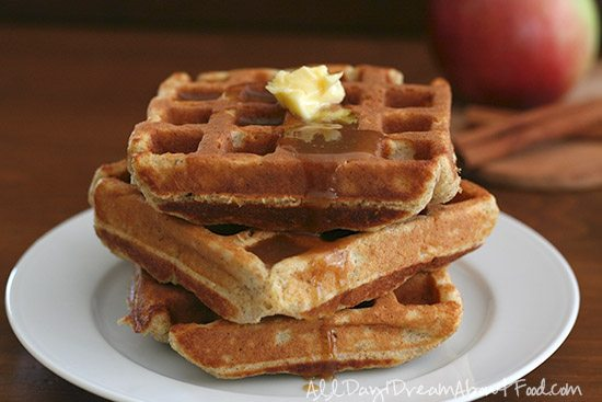 Low Carb Cinnamon Apple Waffle Recipe | All Day I Dream About Food