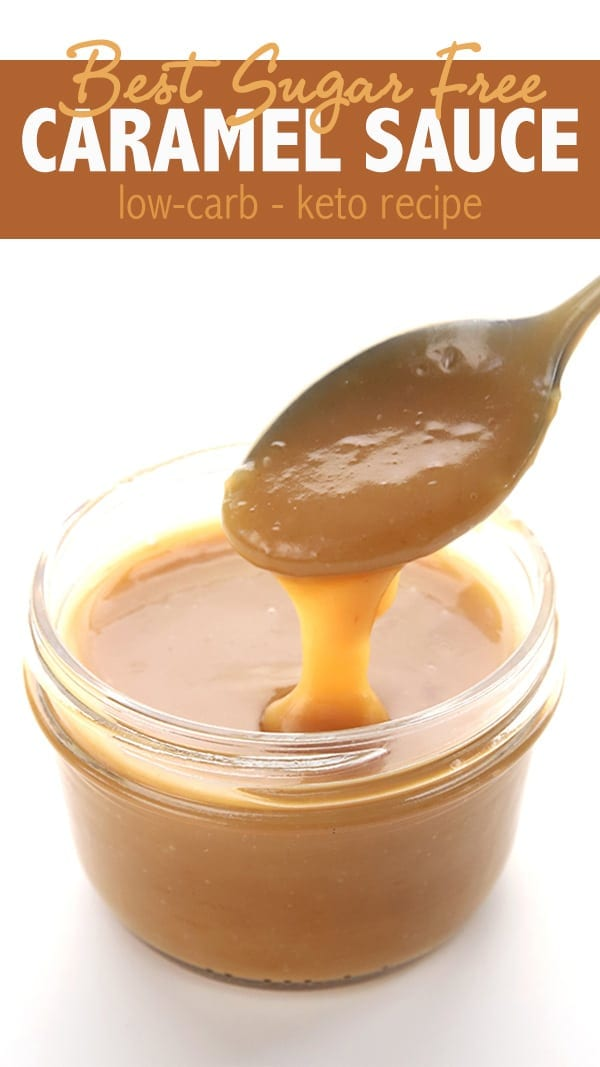 Simply the best keto sugar-free caramel sauce. Accept no substitutes. Come and check out how I keep it soft and pourable for days! #lowcarb #ketorecipes #ketodiet #caramelsauce #sugarfree #easyketo #lowcarbrecipes