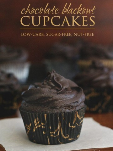 Low Carb Nut-Free Chocolate Blackout Cupcakes