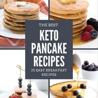 Titled collage of keto pancake recipes