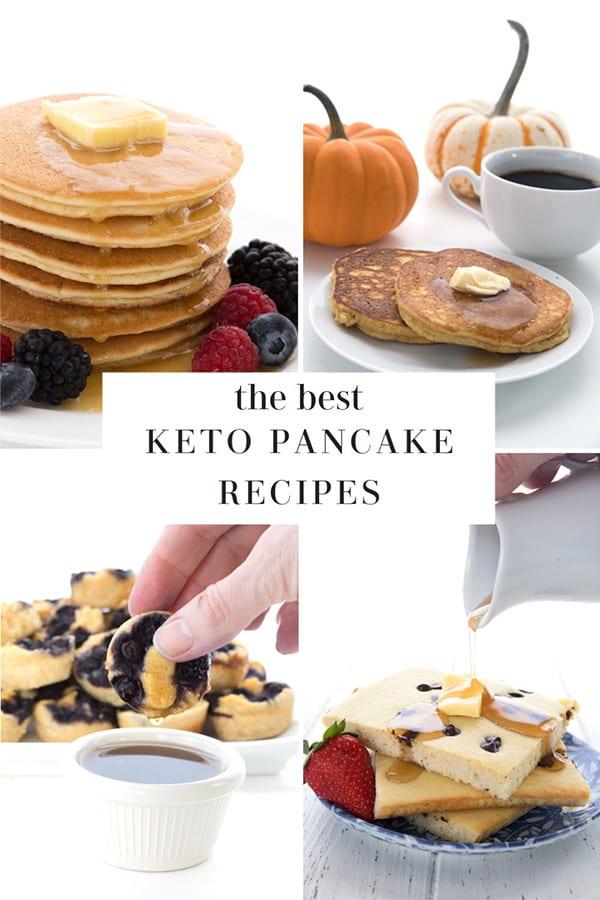 Keto pancake recipe collage