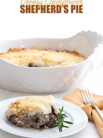 Keto Shepherd's Pie with a Cauliflower topping