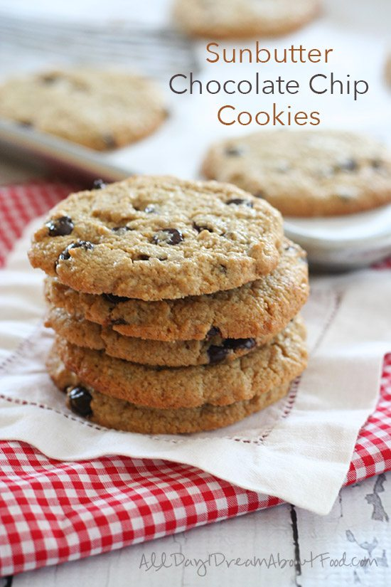 Low Carb Sunbutter Chocolate Chip Cookies