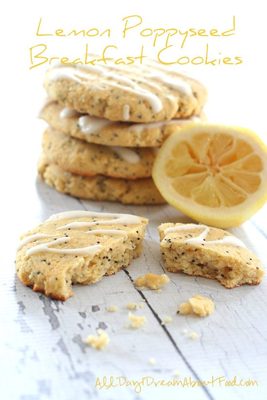 Low Carb Lemon Poppyseed Breakfast Cookies