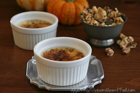 Sugar-Free Maple Walnut Creme Brûlée