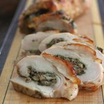Low Carb Mushroom Sage Rolled Turkey Breast