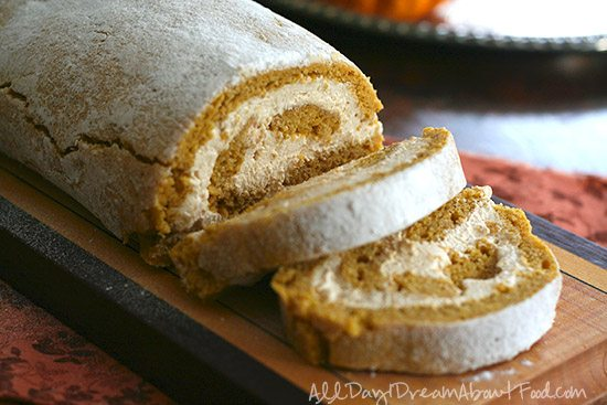 Low Carb Pumpkin Roll with Coffee Cream