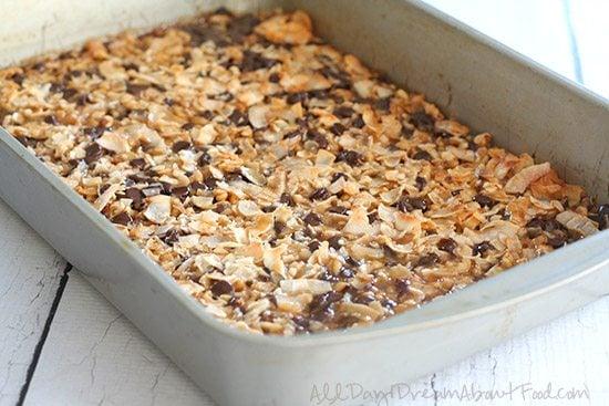 Low Carb Salted Caramel Magic Cookie Bar Recipe
