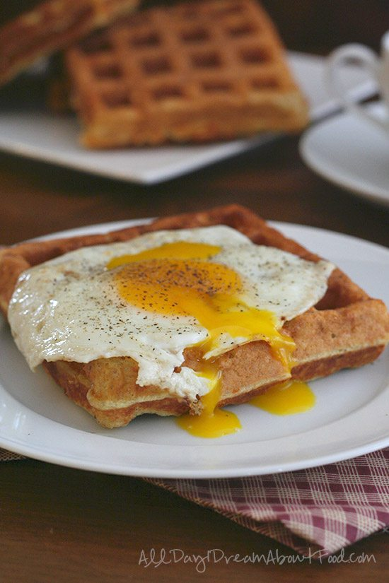 Low Carb Savory Cheddar Waffles Recipe | All Day I Dream About Food