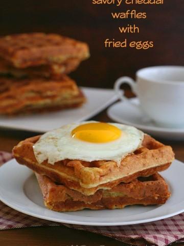 Low Carb Savory Cheddar Waffles