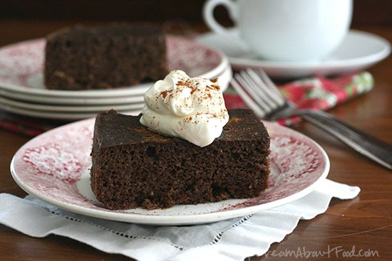 Low Carb Grain-Free Gingerbread Cake baked in a crockpot