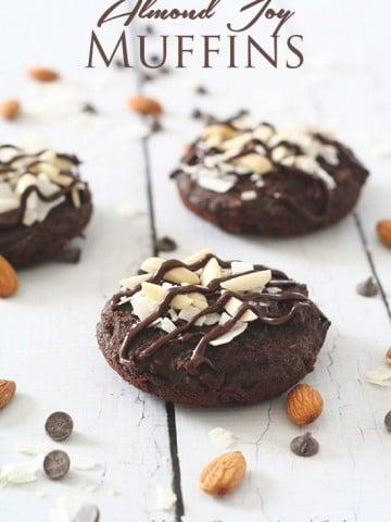 Low Carb Almond Joy Muffins