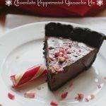 Low Carb Chocolate Peppermint Ganache Pie