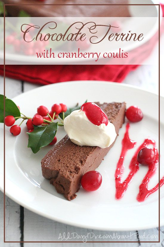 Low Carb Chocolate Terrine with Cranberry Coulis