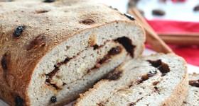 Low Carb Cinnamon Raisin Swirl Bread