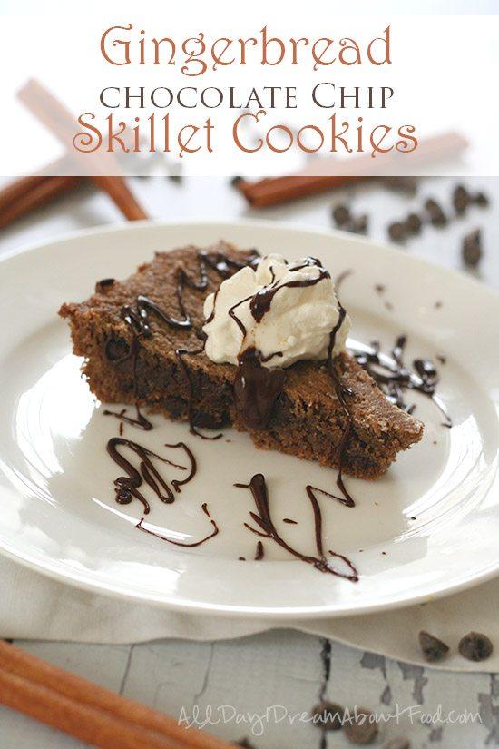 Low Carb Grain-Free Gingerbread Skillet Cookies