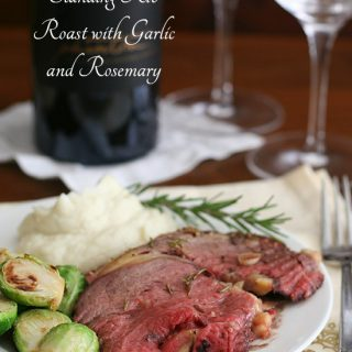 Standing Rib Roast with Garlic and Rosemary