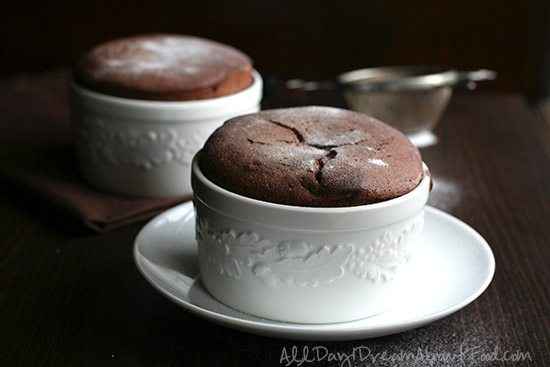 Low Carb Grain-Free Boozy Chocolate Souffles