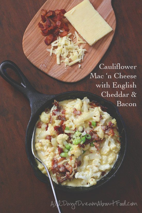 Low carb cauliflower mac and cheese recipe all day i dream about food low carb mac and cheese with english cheddar and bacon forumfinder Choice Image