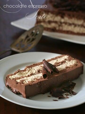 Low Carb Chocolate Espresso Torte