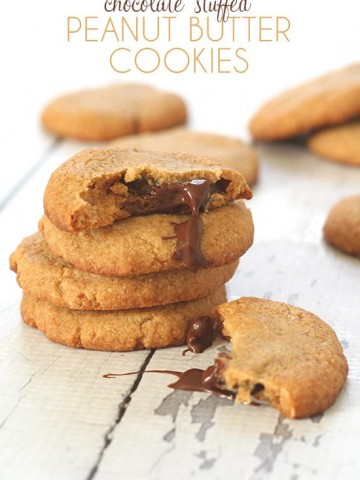 Low Carb Chocolate Stuffed Peanut Butter Cookies