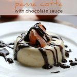 Low Carb Sugar-Free Clementine Panna Cotta with Chocolate Sauce