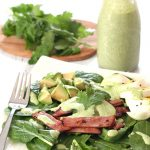 Low Carb Spinach Egg and Ham Salad Recipe