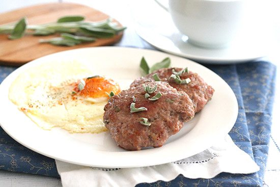 Low Carb Grain-Free Maple Sage Breakfast Sausage Patties