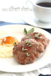 Low Carb Maple Sage Breakfast Sausage