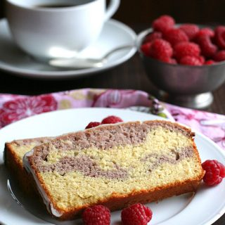 Raspberry Swirl Pound Cake and a KitchenAid Juicer Review