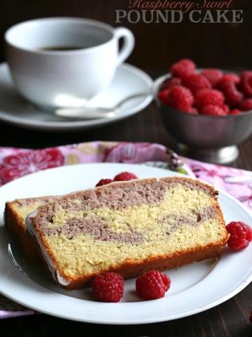 Low Carb Raspberry Swirl Pound Cake