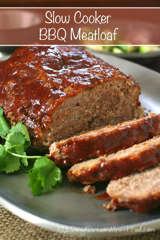 Low Carb Slow Cooker Barbecue Meatloaf