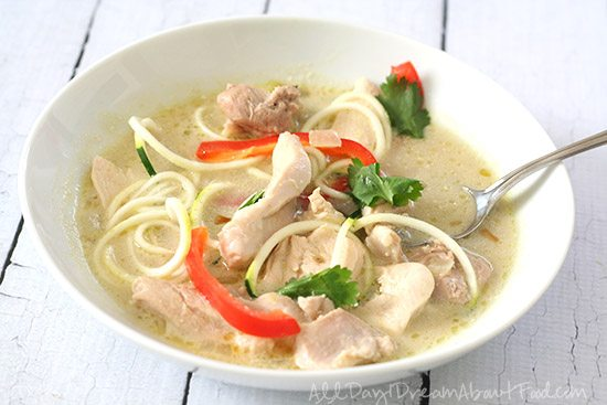 Low Carb Paleo Thai Chicken Soup Recipe