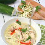 Paleo Thai Chicken Noodle Soup Recipe