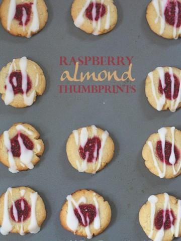 Low Carb Raspberry Almond Thumbprints