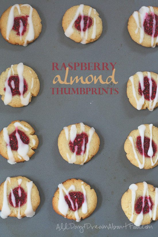 Low Carb Raspberry Almond Thumbprints