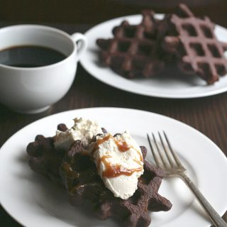Low Carb Brownie Batter Waffles