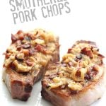 Low Carb Pork Chops Smothered in Bacon and Caramelized Onions