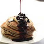 Low Carb Sugar-Free Blender Pancakes with Blueberry Syrup
