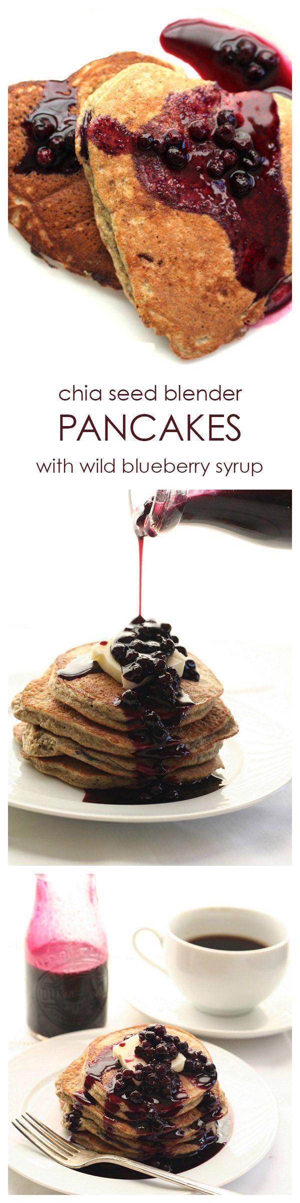 Chia Blueberry Blender Pancake Recipe Low Carb Grain-Free