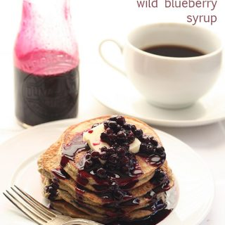 Low Carb Chia Blueberry Blender Pancakes
