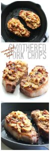 Seriously the best pork chop recipe you will ever need. Creamy caramelized onions and bacon on perfectly seared chops. Low carb and primal